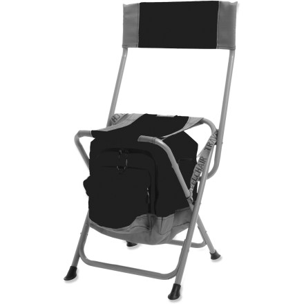 Camp and Hike The TravelChair Anywhere Cooler chair lets you enjoy a cold beverage and a comfortable seat at the same time. It's perfect for car camping and tailgating. Built-in insulated cooler has room for a 6-pack of beverages and ice to keep it cool; cooler zips open on the front so you can easily grab a drink while staying seated. Chair folds down to 24 x 16 x 3 in., allowing it to fit in the back of your car and be carried to the campground, summer concert or kids' soccer game. Sturdy powder-coated steel frame on the TravelChair Anywhere Cooler chair supports up to 250 lbs. - $29.93