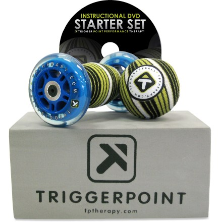 Fitness Use the Trigger Point Performance starter set with DVD to help bring relief to aches and pains in your feet, Achilles tendons, shins, calves and other lower leg muscles. - $39.93
