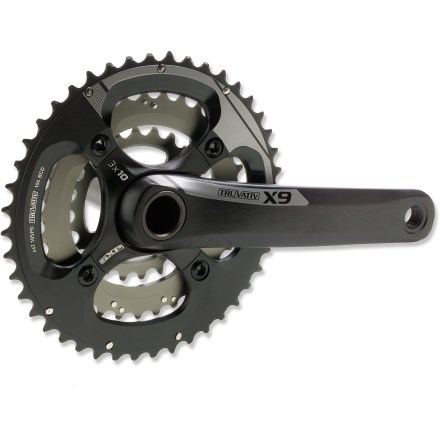 Fitness Truvativ X9 10-Speed crankset not only includes a smooth GXP bottom bracket, it's outfitted with tough, quick-shifting rings and lightweight crank arms for solid trail performance. - $161.93