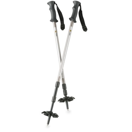 Camp and Hike With the sturdy and compact Tubbs 3-Piece snowshoe poles, you'll travel right through the winter white, thanks to the enhanced balance and control they impart. - $59.95