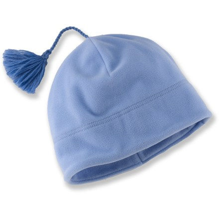 Ski The Turtle Fur Micro Fur Tassel beanie keeps your head warm during cold-weather play. Technofleece fabric is warm, moisture wicking and quick drying. Wool tassel completes the hat. Special buy. - $4.93