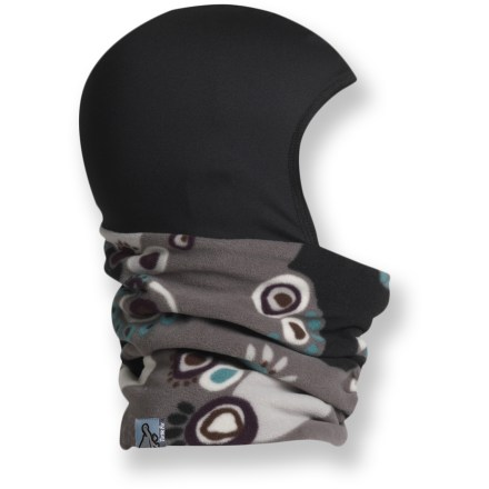 Ski The Turtle Fur Ponytail Micro Fur Shellaclava combines a balaclava and a neck gaiter to keep you warm during cold-weather activities. - $17.73