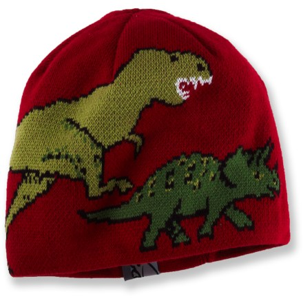 Entertainment The Turtle Fur Jurassic hat for toddlers sports fun dinosaur graphics and will cradle kids' craniums in cozy warmth and comfort. - $20.00