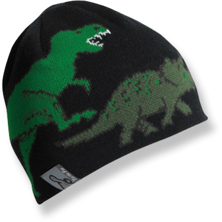 Entertainment The Turtle Fur Jurassic hat sports fun dinosaur graphics and will cradle kids' craniums in cozy warmth and comfort. Soft acrylic knit offers excellent warmth; it also breathes well when you're active and dries quickly when damp. Microfleece liner adds warmth and draws moisture away from the skin. - $13.93