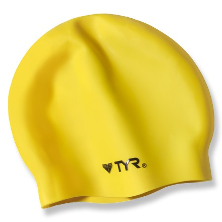 Fitness This tear-resistant silicone swim cap features a wrinkle-free design for improved fit and reduced drag. - $10.00