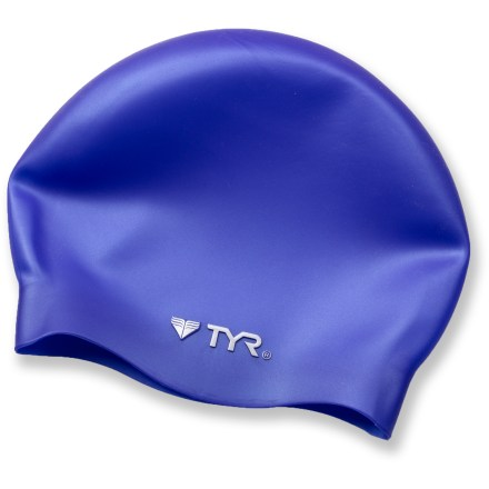 Fitness The Wrinkle Free Silicone swim cap from TYR keeps your hair out of your face and minimizes chlorine damage. - $6.93