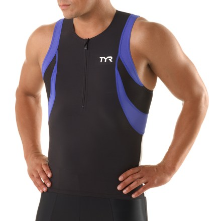 The TYR Competitor singlet is engineered to meet the demands of triathletes, enhancing performance and boosting comfort. - $23.83