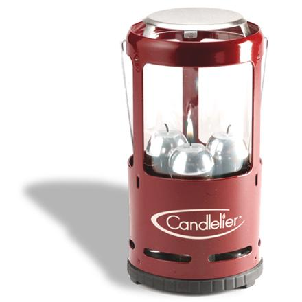 Camp and Hike The family-sized UCO Candlelier candle lantern burns 3 candles for extra bright light. It's great for camping, picnics or power outages. - $39.95