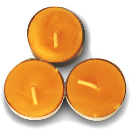 Camp and Hike The Uco Beeswax Tealight Candles provide the pleasant aroma of honey and produce less smoke than standard wax candles. - $4.95