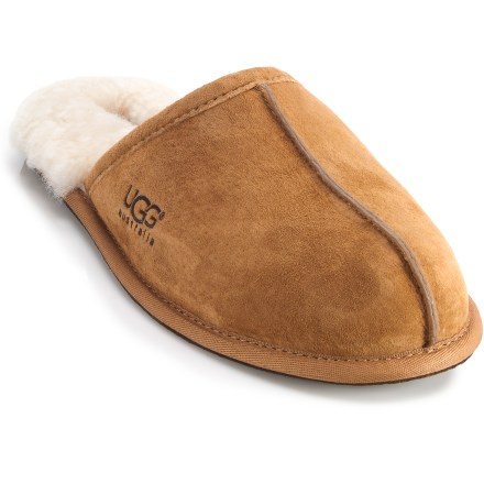 Entertainment UGG Scuff slippers for men are a simple solution when colder temperatures come creeping inside; just slip them on to keep your feet warm and happy until spring returns. - $80.00