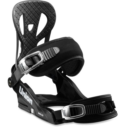 Snowboard The lightweight Union Micro Flite kids' bindings offer the comfort, support and forgiving flex needed for effortless stomping for all types of riding. - $48.83