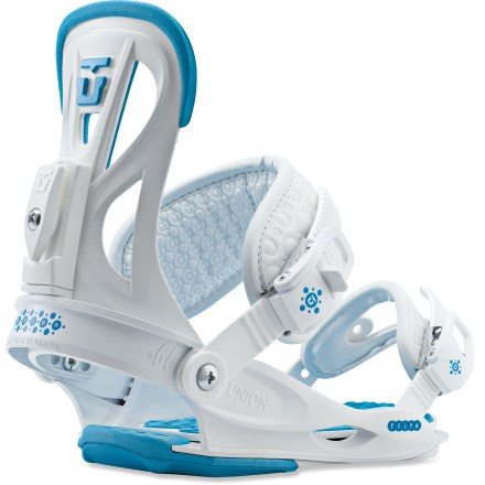 Snowboard The Union Flite Lady bindings offer the comfort, support and forgiving flex needed for effortless stomping no matter what type of riding you do. And you'll be pleased with how lightweight they are. - $78.83