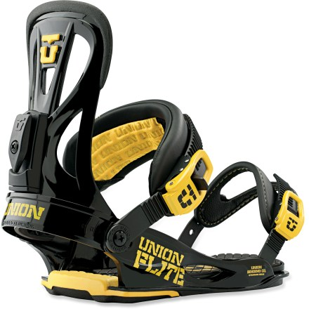 Snowboard Union Flite bindings offer the comfort, support and forgiving flex needed for effortless stomping no matter what type of riding you do. And you'll appreciate how lightweight they are. - $78.83