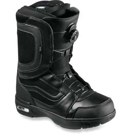 Snowboard The original and best-selling Vans Encore Boa men's snowboard boots just keep getting better. A soft, forgiving flex and quick and easily adjustable closures make you forget you're even wearing boots. - $94.83