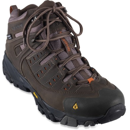 Camp and Hike Featuring mid-height cuffs and waterproof protection, the Vasque Scree 2.0 Mid UltraDry hiking boots deliver all-weather performance and support for your trail endeavors. - $36.83
