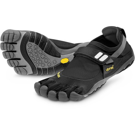 Fitness The women's Vibram FiveFingers TrekSport multisport shoes blend previous FiveFingers KSO designs into a nimble, versatile platform with low-profile traction. - $49.83