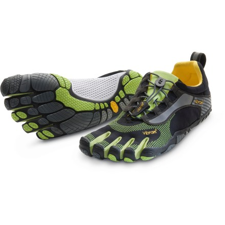 Fitness Designed specifically for natural running, the Vibram FiveFingers Bikila LS running shoes offer a near-barefoot experience and a custom, snug fit thanks to a quick-lace system. - $48.83