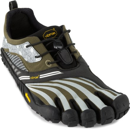 Fitness Designed specifically for trail-running, the Vibram FiveFingers Spyridon LS shoes offer aggressive traction, terrain protection and stout construction for great performance on the trail. - $58.83