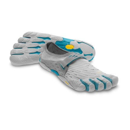 Fitness With extremely lightweight materials, these Vibram FiveFingers SeeYa running shoes for women help you chase your ambitions to get even closer to the truly barefoot sensation. Single-layer polyester stretch uppers fit low on feet and offer quick-drying comfort. Individual toe slots enhance dexterity, control and stability to deliver a natural running motion. Instep straps secure with a rip-and-stick closure to provide a close fit. AEGIS Microbe Shield(R) antimicrobial treatment deters odors. Dri-lex(R) moisture-wicking nylon covers stitched-in polyurethane insoles to protect the skin and foot tissue on long runs. Nonmarking outsoles feature anatomically contoured Vibram rubber traction pods that follow the contours of your feet and toes. 3M(R) reflective hits increase your visibility in low light. In order to allow your feet to adapt to using different muscles, gradually increase usage of these shoes. Machine washable in cold water; air dry only, away from sun or heat source. Women's Vibram FiveFingers SeeYa shoes are recommended for running, fitness training and light trekking. To determine size, stand with heels against a wall and measure from the wall to the tip of the longest toe on each foot; use the longer of the 2 lengths with the size chart. - $69.93