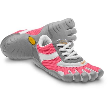 The Vibram FiveFingers Speed girls' shoes supply minimalist performance in a casual style, making them great for her daily adventuring. - $15.83
