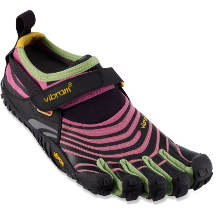 Fitness Light, agile and tough, these Vibram FiveFingers Spyridon trail-running shoes boast minimalist construction with trail-hungry outsoles and formfitting, breathable uppers. - $54.83