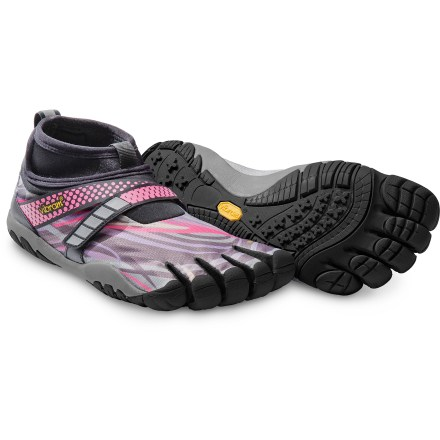 Fitness The minimalist Vibram FiveFingers Lontra women's running shoes are designed for cold and wet conditions, featuring highly water-resistant construction, fleece linings and extended neoprene collars. - $74.83