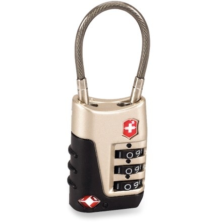 Camp and Hike The Victorinox Travel Sentry cable lock allows security screeners to unlock and relock the device without destroying it during baggage checks. - $20.00