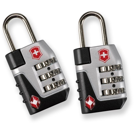Camp and Hike Confidently keep your luggage secure with the Victorinox Travel Sentry Combo Lock set, which features 2 Travel Sentry(R) approved locks that let inspectors access luggage without destroying locks. - $11.93