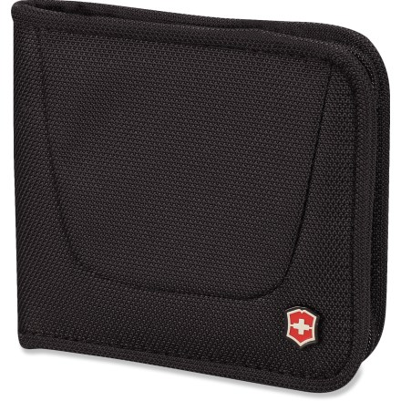 Entertainment This bi-fold Victorinox Zip Around wallet zips along all outside edges to keep your essentials secure. - $30.00