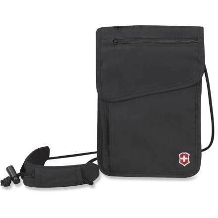 Entertainment The Victorinox Deluxe Concealed Security neck pouch carries and organizes your ID, passport and other travel necessities with discreet simplicity. - $10.93