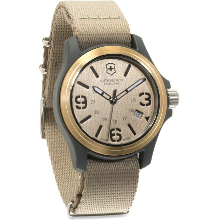 Entertainment The Victorinox Original 40mm watch offers exceptional value for a precision Swiss timepiece that is designed for outdoor action but is handsome enough for high tea. - $125.93