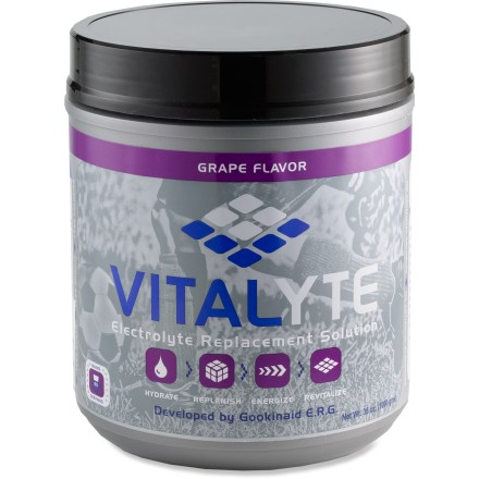 Camp and Hike Vitalyte electrolyte and glucose replacement drink can prolong exercise time, relieve thirst and prevent muscle cramps. - $10.93