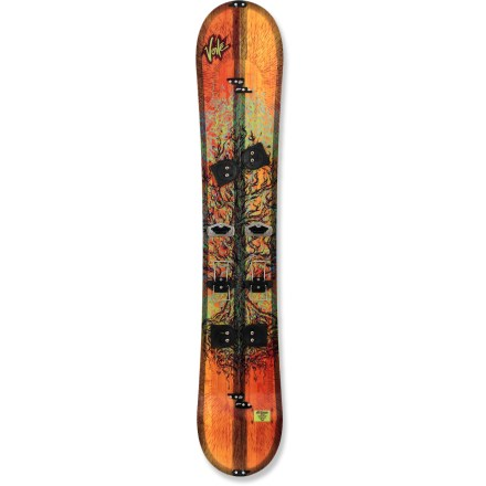 Snowboard New from Voile, the Artisan splitboard features a twin tip shape and a mixed rocker and camber profile to more closely resemble your traditional snowboard's ride. Enjoy the ride ... and the tour! Unique board profile features a flat base at center of board for better grip when in tour mode. Features camber under feet for better control in turns and rocker from the center to the tip and tail for superior float and control in pow. Full aspen wood core is durable yet lightweight, and offers an even flex. Interior and exterior sintered UHMW sidewalls offer incredible strength and durability. Sintered base is not only fast, it's also durable and highly wax absorbent; you'll spend less time performing maintenance and more time riding. Hardware includes touring brackets, durable slider tracks, dual-height climbing wires and binding shims for improved uphill skinning. Offers quick conversion from uphill touring to downhill snowboarding without sacrificing performance. Voile universal slider track will accept almost any snowboard brand binding on the market. Universal Puck system and custom insert pattern let you dial in your stance width and angles. Skins sold separately. . - $721.93