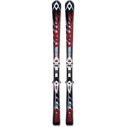 Ski Featuring a fully rockered, all-mountain design, the Volkl RTM 80 skis with bindings are designed to transition from groomed runs to soft snow and back again. The Volkl RTM 80 skis with bindings work when sticking to groomers, but they are ideal if you find yourself switching between groomed runs and off-piste terrain. Wood cores extend upward to form the chambers of the Dual Extended Transmission profile. These chambers support the outside of the skis over the edges and create a more forgiving feel with oodles of power. Steel laminate construction further enhances torsional rigidity, providing a lively feel as you power through turns. Smooth, gradual rise from tip to tail adds maneuverability in soft snow and delivers graceful arcs on groomed terrain. Fully rockered edges become more effective as the skis are turned on edge, creating uninterrupted contact. Motion internal Power Transmission (iPT) Wide Ride 12.0 D bindings put the interface in the ski body, creating the most rigid connection of any Motion system to date. iPT Wide Ride binding interface is 30% wider than the original iPT, providing excellent energy transfer and edge grip for skis 80mm and fatter. Extremely lightweight toe and heel components let you maneuver the wide-waisted skis with ease. Using the toe and heel pieces of the Marker Jester and Duke freeride bindings, the iPT 12.0 Wide Ride D bindings securely wrap the boot lugs. Binding features DIN 4 - 12 release settings. Base or topsheet color may vary from online photo. - $538.83
