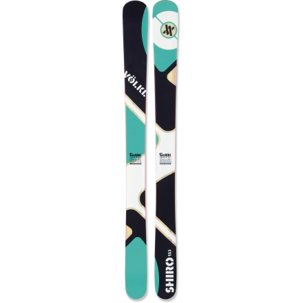 Ski The Volkl Shiro skis offers young skiers the incredible maneuverability of a rockered ski. - $147.83