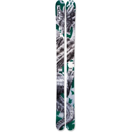 Ski Forged by the big-mountain masters at Volkl, the Katana skis slice through soft snow without sinking or diving. 112mm waist creates powder-loving skis that keep you afloat in the deepest snow, but they also transition well onto groomed runs. Sensorwood core consists of vertically laminated poplar and beech wood, providing responsive, powerful turning and torsional rigidity. 2 titanium sheets increase torsional resistance and damp vibrations without adding cumbersome weight. Elongated, low-profile (ELP) rocker creates a gradual rise in the ski from the boot toe toward the tip and from the heel toward the tail. Full rocker in the Katana is subtle compared to that of other Volkl skis, such as the Kuro and Gotama; the ELP of the Katana enhances maneuverability at high speeds. Low tip shape smooths out your ride on the groomed runs and resists diving in soft snow. Vertical sidewalls provide excellent grip, stability and sensitivity. Base or topsheet color may vary from online photo. Volkl Katana skis require bindings with wide brakes. - $538.83