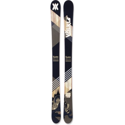Ski On the fully rockered Volkl Gotama Jr skis your youngster will have a blast floating through deep powder. - $107.83