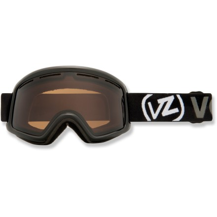 Ski The Von Zipper Beefy Asian Fit snow goggles deliver clear optics, extended peripheral vision and a tuned fit for all-out beefcake performance on the slopes. Ergonomically designed injection-molded thermoplyurethane frame offers up a comfortable, flexible fit. Dual polycarbonate cylindrical lenses minimize distortion and offer extended peripheral vision for a wide field of vision. Antifog coating helps keep your optics clear and precise; hardened surface resists scratches. Lens vents help control airflow and prevent fogging. Triple density face foam is topped with soft fleece to offer sublime next-to-skin comfort and a snug face interface. Bronze lens performs optimally in sunny or partly cloudy conditions; allows 30% visible light transmission. Dual adjustable strap and helmet-compatible design for a comfortable, personalized and precise fit. The Von Zipper Beefy Asian Fit snow goggles feature an extra layer of face foam around the nose to offer a better fit for those with high cheekbones and low nose arches. - $41.83