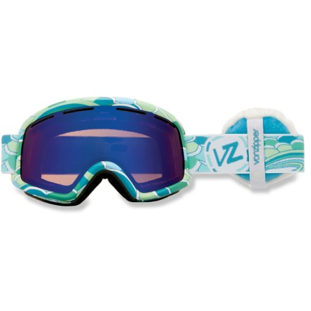 Ski Von Zipper Beefy B4BC women's snow goggles deliver sweet style, a comfortable fit and a wide field of vision, plus proceeds from the sales of these goggles go to Boarding for Breast Cancer (B4BC). B4BC is a youth-focused, nonprofit organization devoted to raising awareness of breast cancer, supporting early detection and educating on the value of an active lifestyle. Ergonomically designed injection-molded thermoplyurethane frame offers up a comfortable, flexible fit. Dual polycarbonate cylindrical lenses minimize distortion and offer extended peripheral vision for a wide viewable area. Antifog coating helps keep your optics clear and precise; hardened surface resists scratches. Lens vents help control airflow and prevent fogging. Triple-density face foam is topped with soft fleece to offer sublime next-to-skin comfort and a snug face interface. Astro Chrome lens offers a versatile bronze tint and blue mirror for great performance in sunny or partly cloudy conditions; allows 30% visible light transmission. Von Zipper Beefy B4BC women's snow goggles have a dual adjustable strap and helmet-compatible design for a comfortable, personalized and precise fit. - $53.83