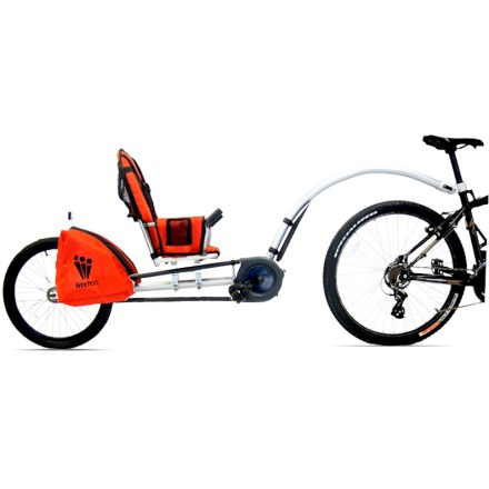 Fitness The Weehoo iGo Pro trailer bike lets kids enjoy the ride and pedal along from a comfortable recumbent position. - $298.93