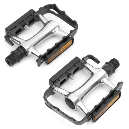 MTB Standard pedal cage allows you to bike in noncleated shoes-great for those who have one bike for everything. - $9.93