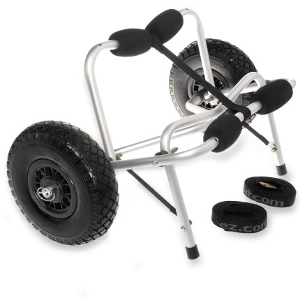 Kayak and Canoe The Wheeleez Tuff Tire kayak cart schleps your boat to the water so you can concentrate on taking it easy and prepping your gear. - $135.00