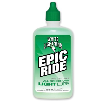 Fitness Rain or shine, Epic Ride all-conditions bicycle drivetrain and component lubricant does the job. - $9.00