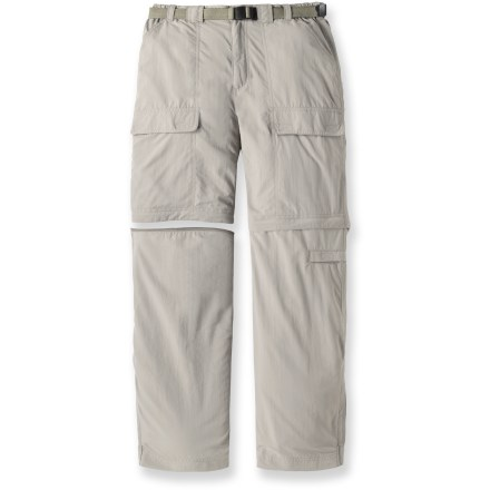 Camp and Hike The White Sierra Trail pants quickly convert to shorts when the day warms up-perfect for almost any adventure! - $41.73
