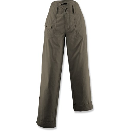 Camp and Hike The White Sierra Swamp Roll-Up pants are ready for treks through the bug country. Durable cotton/nylon poplin weave pants are soft and comfortable. EPA-registered, odorless Insect Shield(R) Repellent Gear repels mosquitoes, ticks, flies, and fleas. Fabric provides UPF 30 sun protection, shielding skin from harmful ultraviolet rays. Roll-up legs for capri-length versatility. Special buy. - $28.73