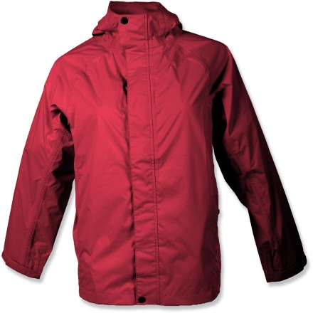 Entertainment The White Sierra Trabagon rain jacket keeps her dry while exploring the outdoors. Polyester fabric has a waterproof, breathable coating to keep the rain out; seams are fully taped. Teflon(R) face-finish sheds water and stains. Back vent allows air to circulate. Articulated sleeves allow freedom of movement for increased comfort. Drawcord hem seals out the elements. Special buy. - $25.73