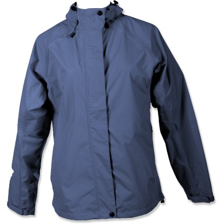 Entertainment The White Sierra Trabagon rain jacket is made for city and trail adventures. Polyester fabric has a waterproof, breathable coating to keep the rain out; seams are fully taped. Teflon(R) face-finish sheds water and stains. Back vent allows air to circulate. Articulated sleeves allow freedom of movement for increased comfort. Drawcord hem seals out the elements. Special buy. - $38.93