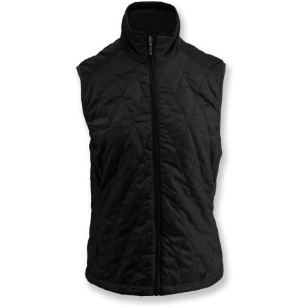 Entertainment The White Sierra Snowy Ridge Quilted vest offers core warmth in a cute, versatile design. Ripstop polyester shell and lining keeps synthetic insulation in place; diamond quilted design. Zippered hand warmer pockets offer a warm refuge to cold fingers. Special buy. - $34.93