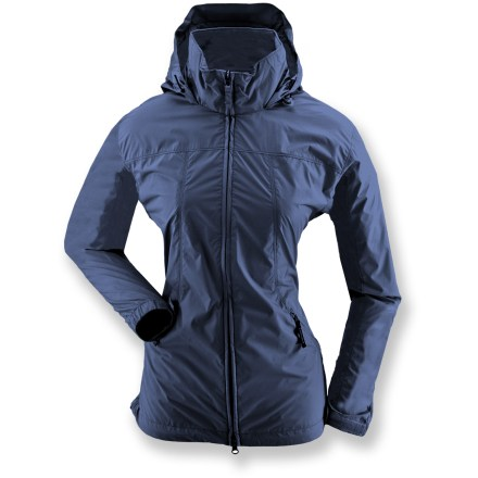 Entertainment The White Sierra Paradise Cove Wind jacket shields you from light rain fall and sudden storms. Windproof ripstop polyester fabric stands up to light rain. Packable design means jacket can be stowed in front pocket. Stowable hood features dual adjustments for great fit. 2-way zipper, rip-and-stick cuffs and zippered front pockets round out features. Special buy. - $23.73