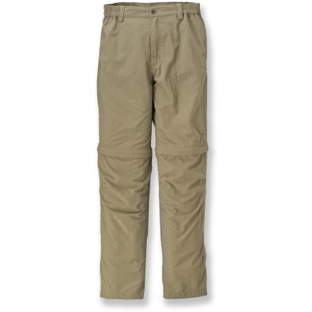 Camp and Hike The Sierra Point Convertible pants from White Sierra are perfect for mountain trails and river banks. Lightweight nylon fabric is moisture wicking and quick drying. Fabric provides UPF 30 sun protection, shielding skin from harmful ultraviolet rays. Convertible design lets you go from pants to shorts in seconds. Articulated knees move with you. Comfort waistband features a zippered fly, button closure and side elastic. Sierra Point pants feature side leg pocket, hand pockets and rear pockets. Special buy. - $21.73